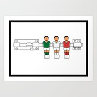 Italian Football - Catenaccio Art Print