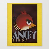 Carlu Spirit - Angry Birds Canvas Print