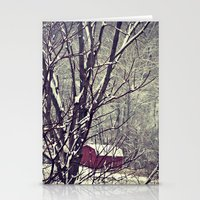 Out Behind The Barn  Stationery Cards