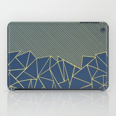 Ab Lines 45 Navy and Gold iPad Case