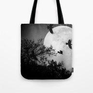 Haunting Moon & Trees Tote Bag