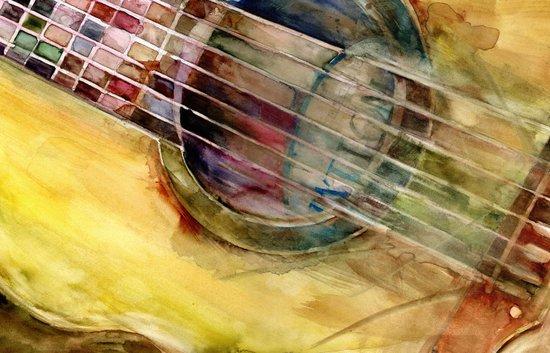 Ovation Acoustic Guitar Canvas Print