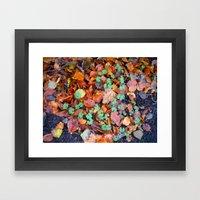 Clovers in Fall Framed Art Print