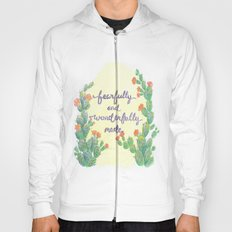 Fearfully and Wonderfully made cactus art Hoody