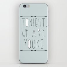 We Are Young (grey & black version) iPhone & iPod Skin