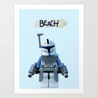 Rex at the Beach Art Print