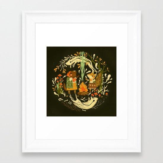 Animal Chants & Forest Whispers Framed Art Print