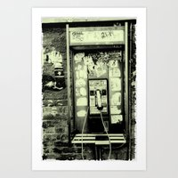 Just Before The I-phone Art Print