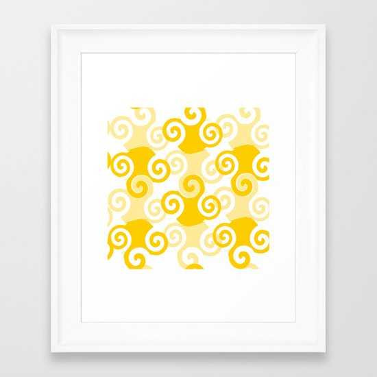 Swirled Framed Art Print