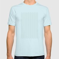 stamb chevron Mens Fitted Tee Light Blue SMALL