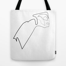 One line Rocketeer Tote Bag