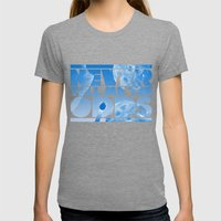 THE ODDS Womens Fitted Tee Tri-Grey SMALL