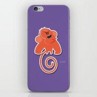Angry moonkey  iPhone & iPod Skin