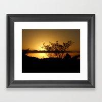 Along the Sundown Way Framed Art Print