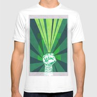 Green Lantern's Light Mens Fitted Tee White SMALL