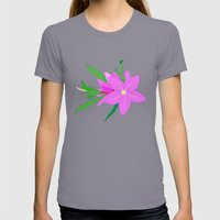 Flowers On The Wall  Womens Fitted Tee Slate SMALL