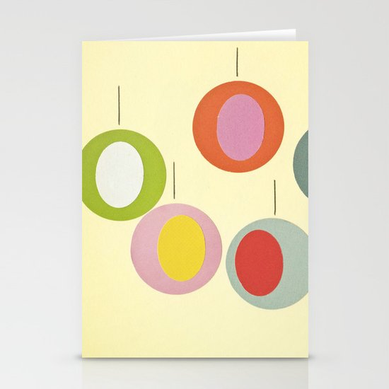 Christmas Baubles Stationery Card