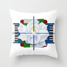 Jazz Gardenia Throw Pillow