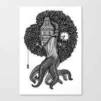 Octotree Canvas Print