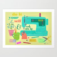 DIY-create your life-2016 Calender Art Print