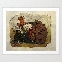 The Hunters Art Print
