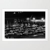those boats look drunk. Art Print