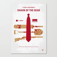 No349 My Shaun of the Dead minimal movie poster Canvas Print