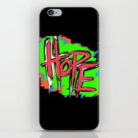 Hope (retro neon 80's style) iPhone & iPod Skin