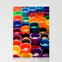 Stacked Markers Stationery Cards