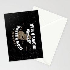 A MAN DOESN'T GROW A BEARD. A BEARD GROWS A MAN. Stationery Cards