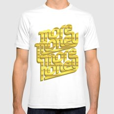 More Money, More Honey SMALL White Mens Fitted Tee