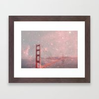 Stardust Covering San Francisco Framed Art Print