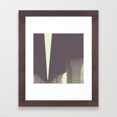 concrete forest Framed Art Print