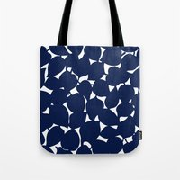 Apple Leaf: Navy Tote Bag