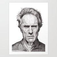Art Print featuring Clint by Rik Reimert