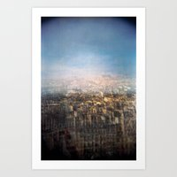 Paris Multiple Exposure  Art Print