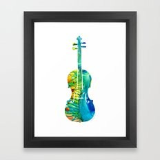 Abstract Violin Art By S… Framed Art Print