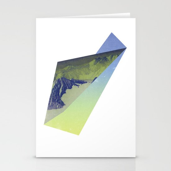 Triangle Mountains Stationery Card