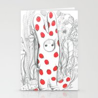 Silent in the forest Stationery Cards