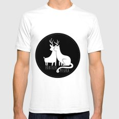 Panther & Mishka Mens Fitted Tee SMALL White