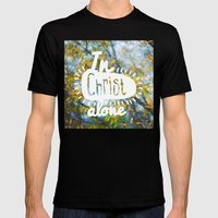 my Hope is found Mens Fitted Tee Black SMALL