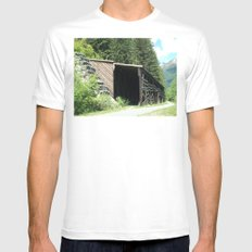 Snow Shed Mens Fitted Tee SMALL White