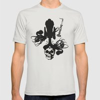 Flesh, Bone, Blood, Love Mens Fitted Tee Silver SMALL