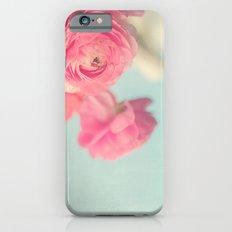 Cotton Candy, Pink Ranunculus iPhone 6 Slim Case