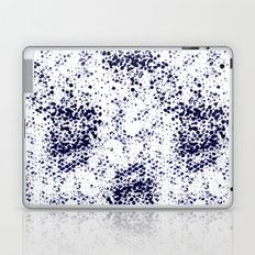 Indigo Splash abstract minimal white and blue nautical water painterly painting monochromatic art Laptop & iPad Skin