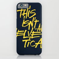 """iPhone & iPod Case featuring """"Helvetica"""" Lettering by Sergi Ferrando"""