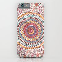 flower iPhone & iPod Cases featuring Sunflower Mandala by Janet Broxon