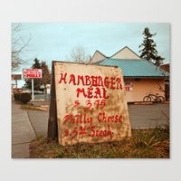 Canvas Print featuring Hamburger deal by Vorona Photography
