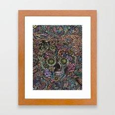 Sensory Overload Skull in Pastels Framed Art Print