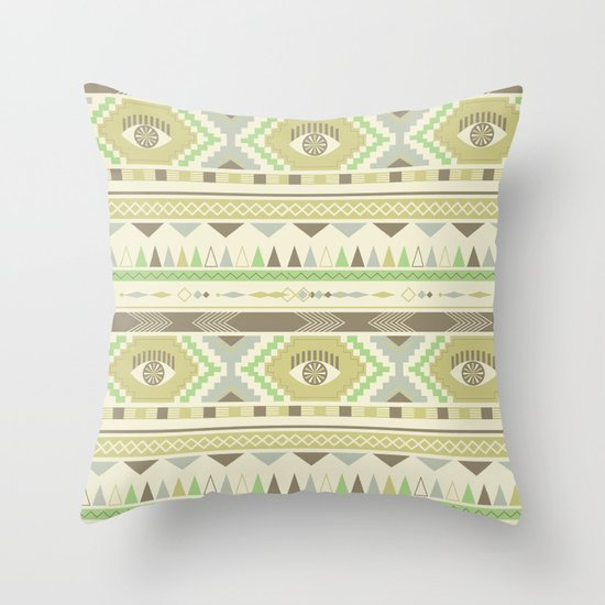 Aztec Eye Throw Pillow